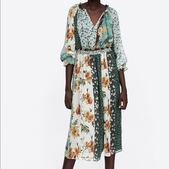 4f9e0bc99f New with tags Zara Patchwork Print dress